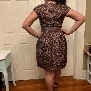 Tara Jarmon Dresses - TARA JARMON Silk brown printed dress sz 42 NWOT